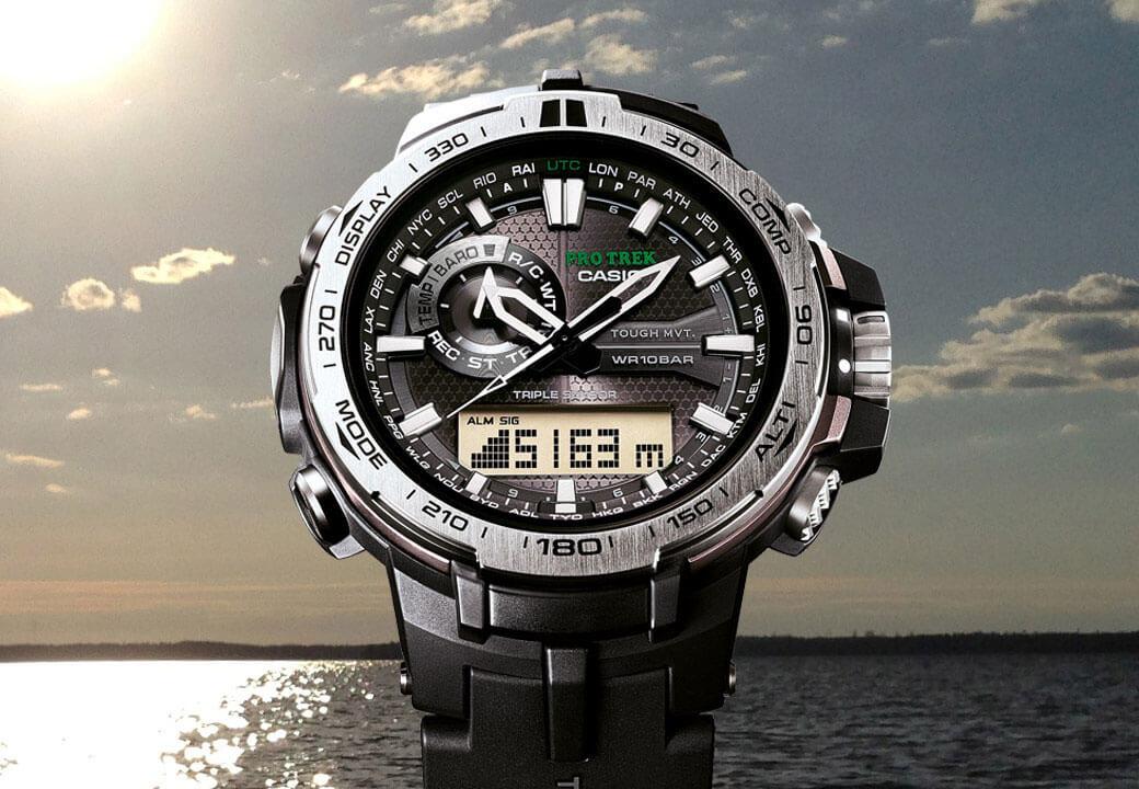 Il modello PRW-6000-1ER di CASIO è l'orologio ideale per i pescatori
