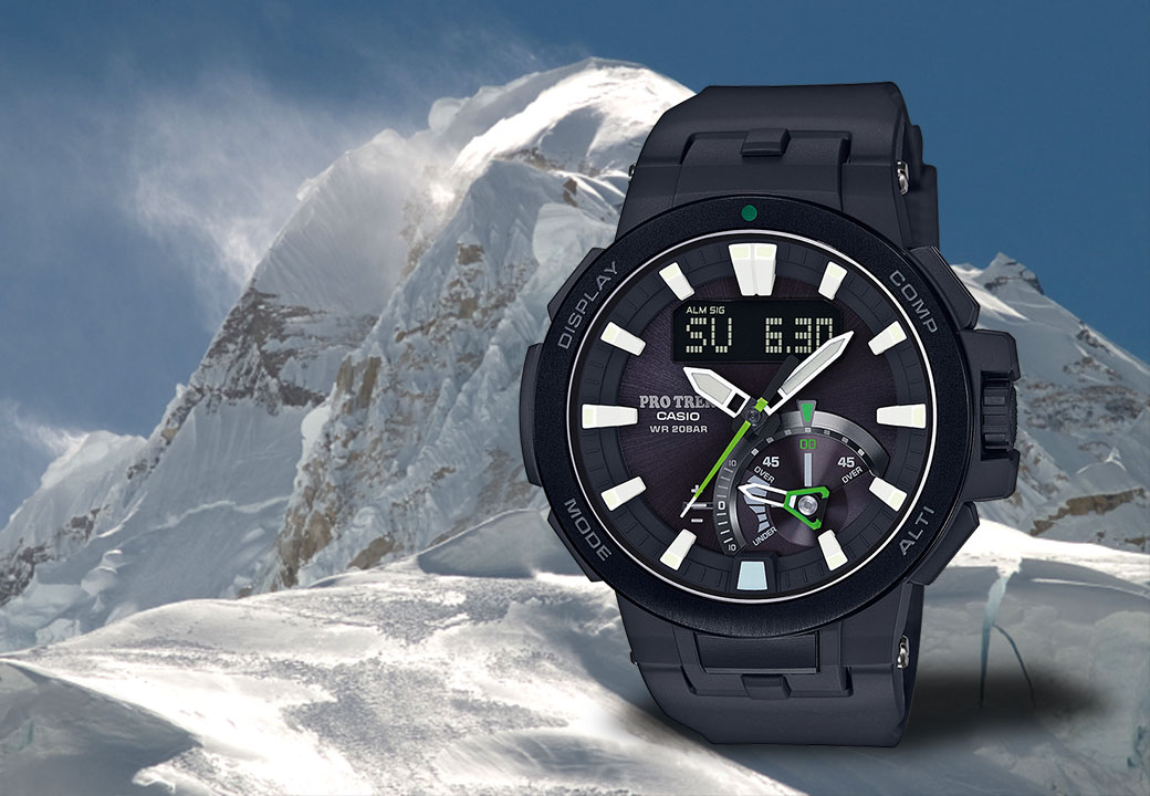 Has also proven its worth in the most extreme conditions: the PRO TREK PRW-7000-1AER
