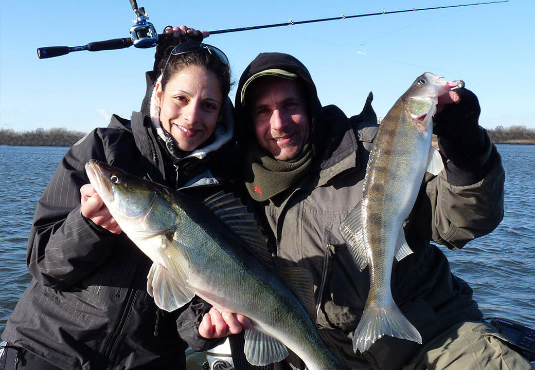The Pro-Guiding team fishes primarily for pike-perch and perch on the River Elbe