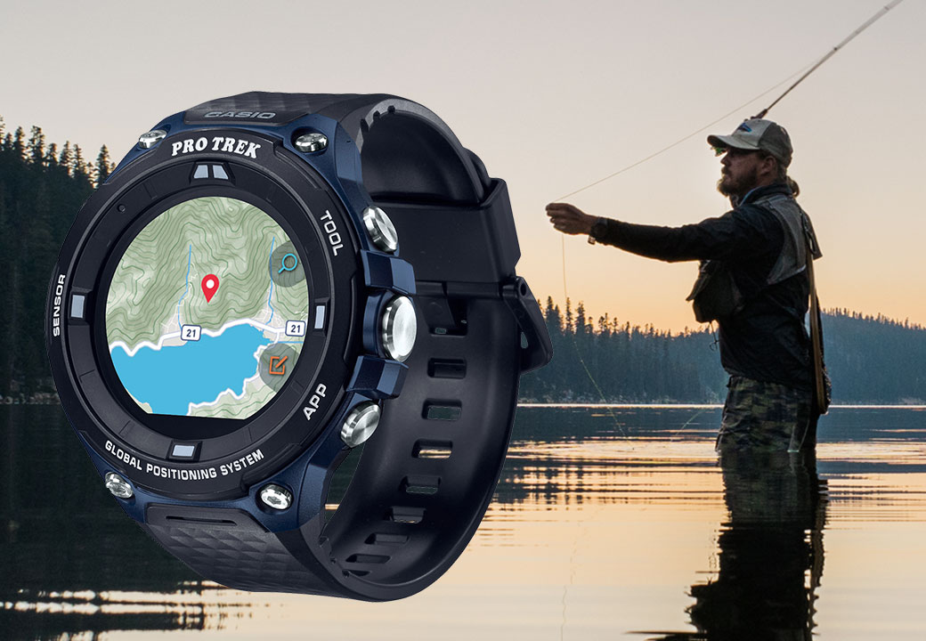 The PRW-1500-1VER model from CASIO is the perfect watch for a fishing trip