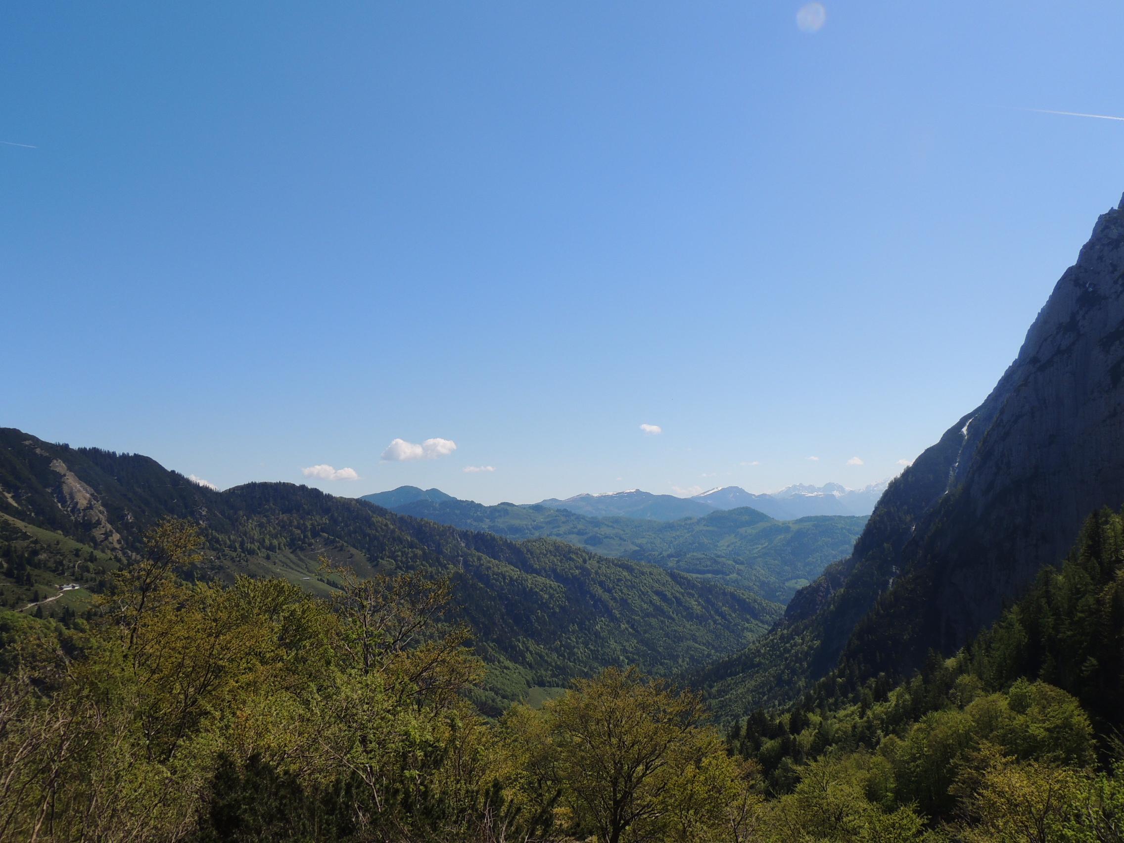 Aussicht auf das Tal im Stripsenjoch