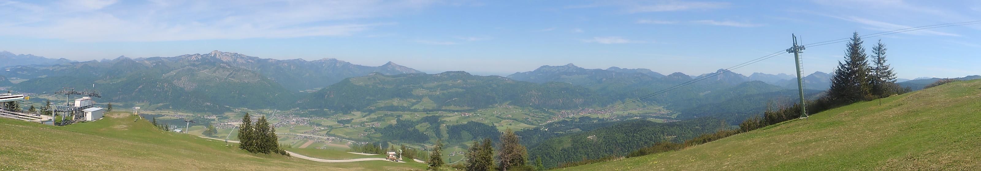 Die Aussicht vom Paragliding-Startplatz Panorama