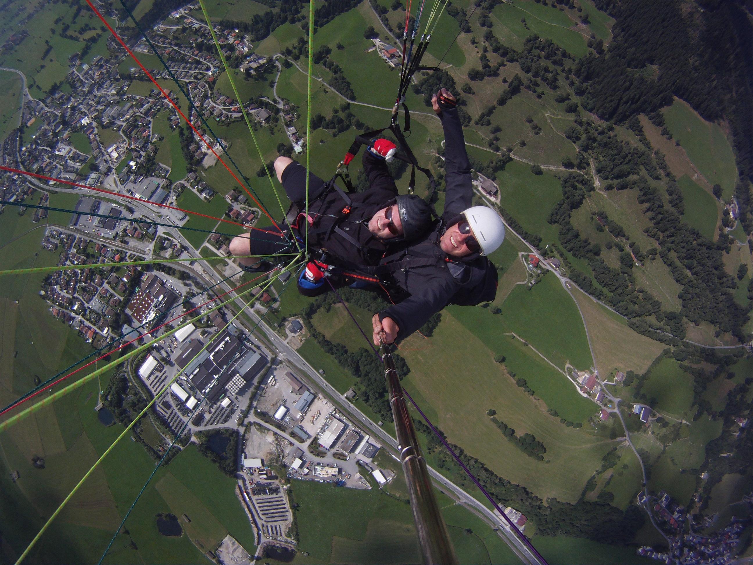 Kristian beim Paragliden 2
