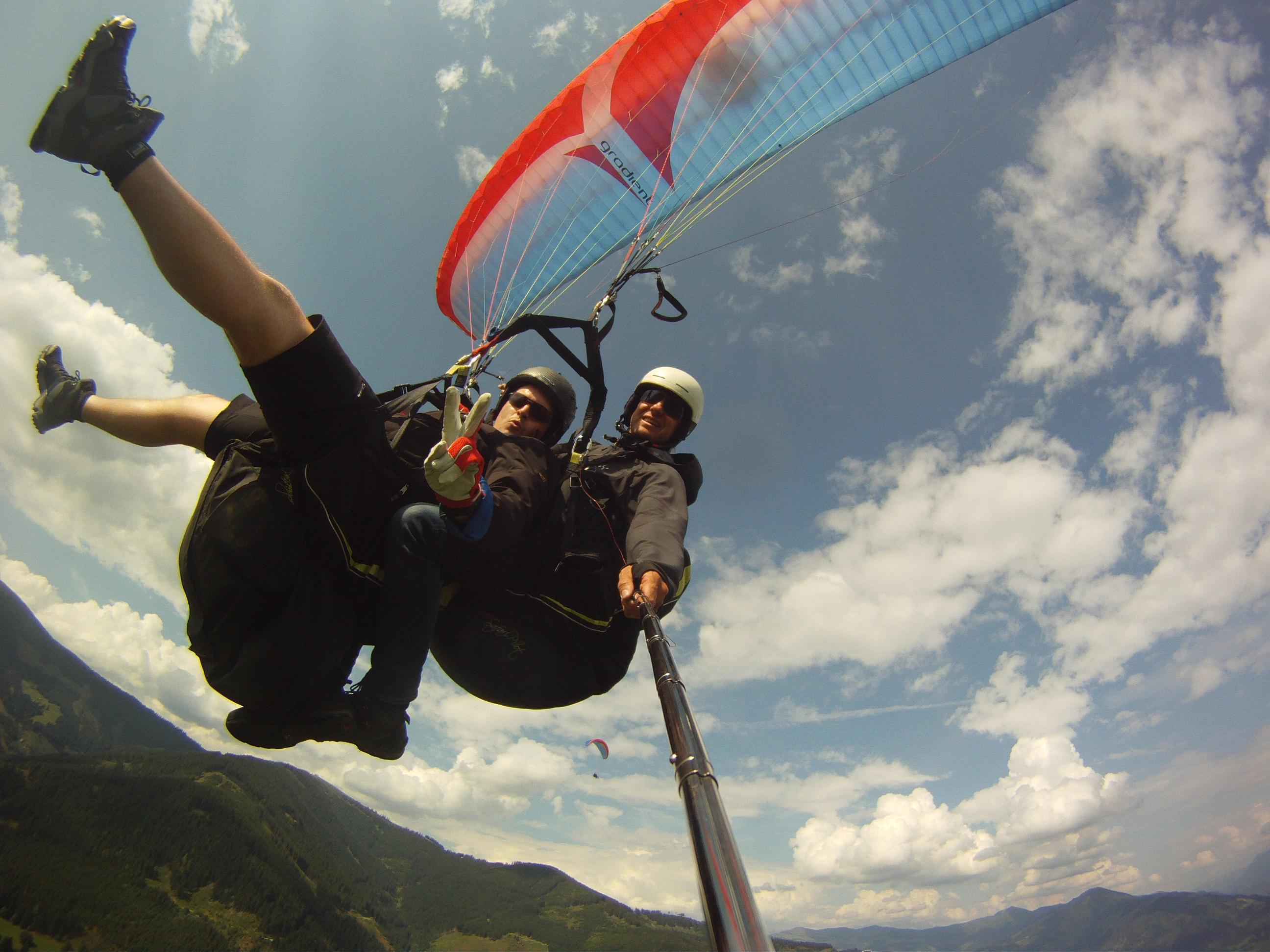 Kristian beim Paragliden