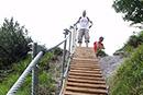 Eine Menge Treppen für ein Gebirge