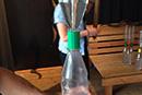 Blaues Wunder Wasserexperiment
