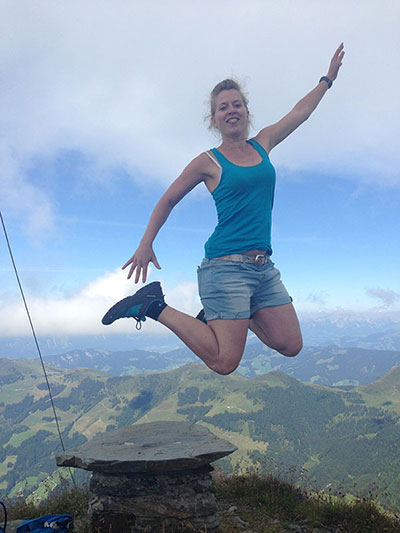 Gipfel-Jumping Feli