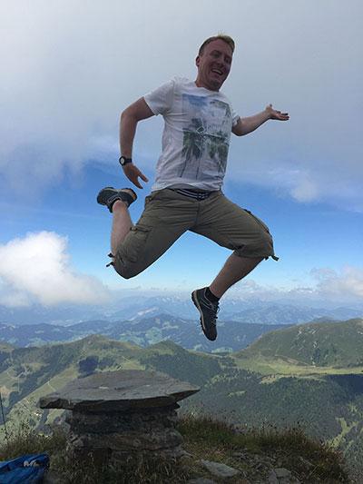 Gipfel-Jumping Rene