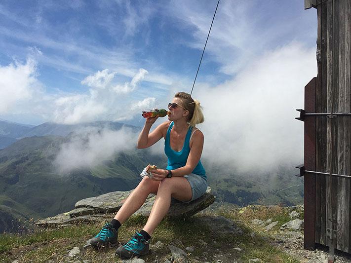 Gipfel-Pause Feli