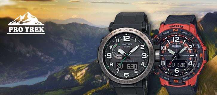 CASIO PRO TREK — outdoor and trekking watches for professionals