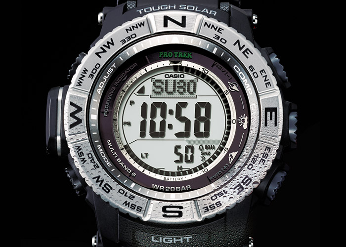 The PRW-3500-1ER from CASIO: with solar operation and altimeter
