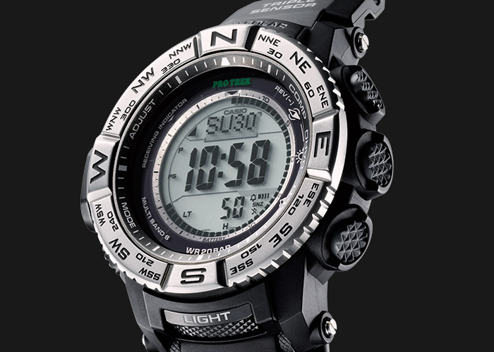 The PRW-3500-1ER with direction bezel and mineral glass