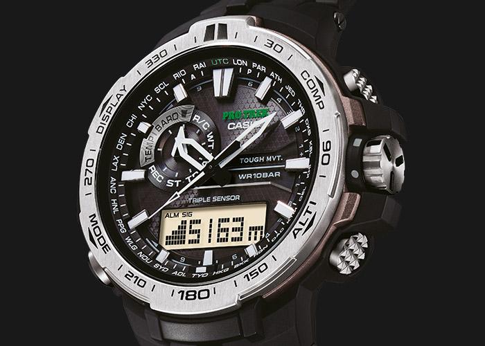 Die PRO TREK PRW-6000-1ER: u.a. mit Barometer, Höhenmesser, Thermometer und Digital-Kompass